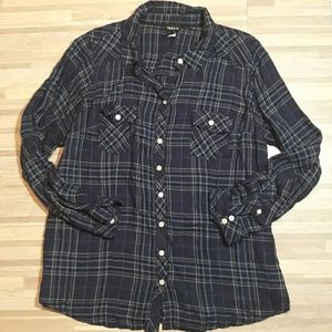 Torrid Plaid Twill Camp Shirt Sz 2